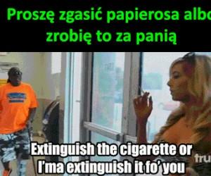 Zakaz palenia, s*ko!