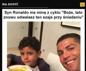 Cristiano Ronaldo, jego syn i... musztarda