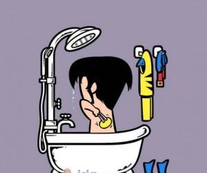 Znane postaci w kąpieli