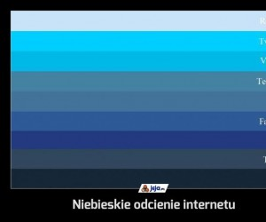 Niebieskie odcienie internetu