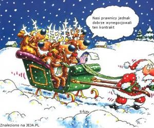Mikołaj vs renifery