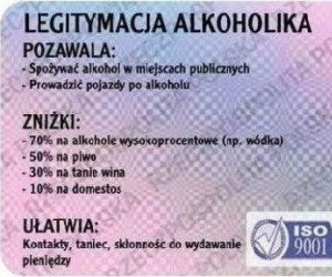 Legitymacja alkoholika