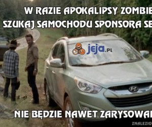 W razie apokalipsy zombie, szukaj odpowiedniego samochodu