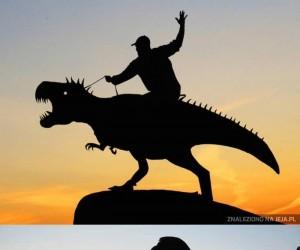 Zabawne zdjęcia przy zachodzie słońca