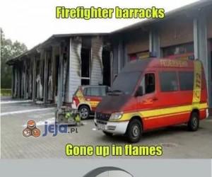 Wozy strażackie spłonęły...