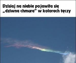 Dziwna chmura w Warszawie