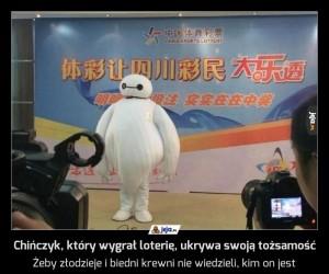 Chińczyk, który wygrał loterię, ukrywa swoją tożsamość