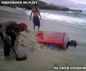 Parkowanie na plaży ma swoje konsekwencje