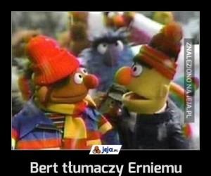 Bert tłumaczy Erniemu