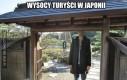 Wysocy turyści w Japonii
