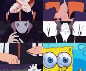 Kiedy próbujesz naśladować postaci z Naruto