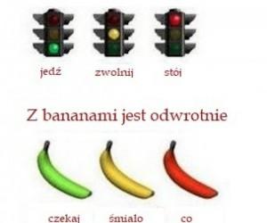 Banany są jak sygnalizacja