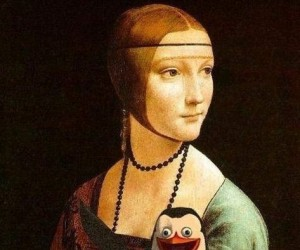 Dama z pingwinem