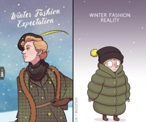 Moda zimowa: oczekiwania vs rzeczywistość