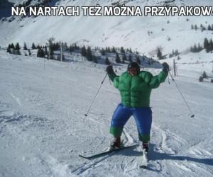 Na nartach też można przypakować
