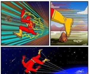 Gdyby Flash potknął się w trakcie biegu