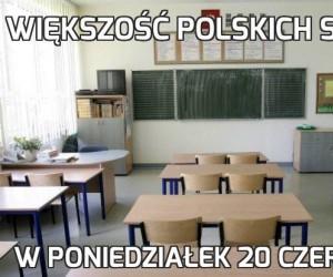 Większość polskich szkół