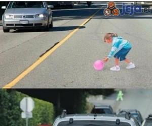 W Japonii takie naklejki zmuszają kierowców do wolniejszej jazdy