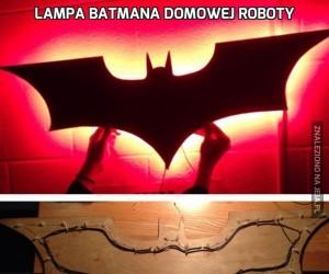 Lampa Batmana domowej roboty