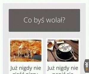 Pizza vs kawa