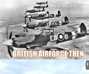 Brytyjskie lotnictwo kiedyś i dzisiaj