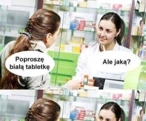 Głupia baba w aptece nie chce sprzedać tabletki