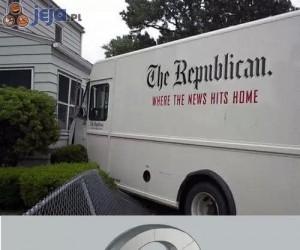 Dosłownie uderza w domy