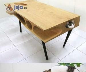 Idealny stół dla kota