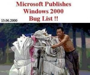 Lista błędów Windowsa 2000