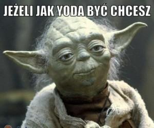 Jeżeli jak Yoda być chcesz...