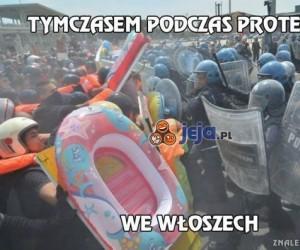 Tymczasem podczas protestów