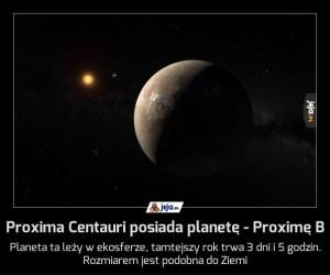 Proxima Centauri posiada planetę - Proximę B