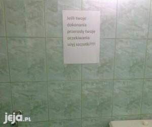 Tymczasem w toalecie publicznej