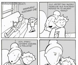 Gdy tatuś zajmuje się dzieckiem...