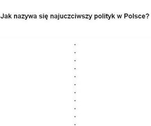 Najbardziej uczciwy polski polityk