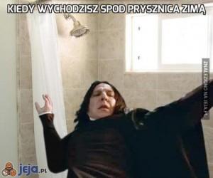 Kiedy wychodzisz spod prysznica zimą