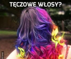 Tęczowe włosy?