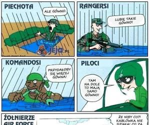W wojsku każdy ma inaczej