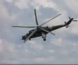 Kamera zsynchronizowana z łopatami helikoptera