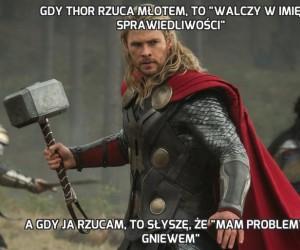 """Gdy Thor rzuca młotem, to """"walczy w imię sprawiedliwości"""""""