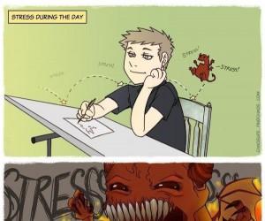 Stres podczas dnia i nocy