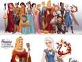 """Księżniczki Disneya w """"Grze o Tron"""""""