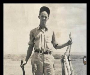 Gigantyczny konik polny ustrzelony w 1937 roku