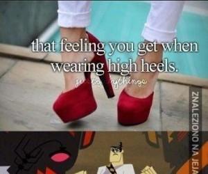 Buty na obcasach, oł je!