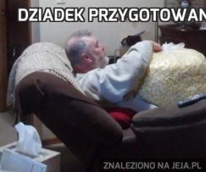 Dziadek przygotowany na film