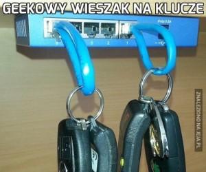 Geekowy wieszak na klucze
