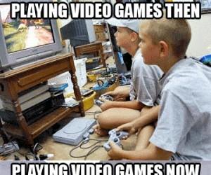 Granie w gry kiedyś i dziś