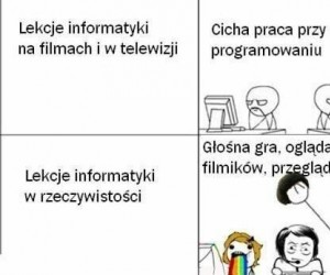 Typowa lekcja informatyki
