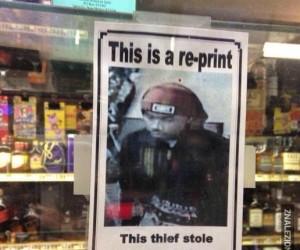 A to sprytny złodziejaszek!