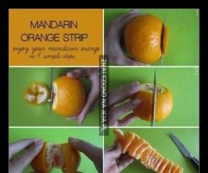 Oto prawidłowy sposób obierania mandarynki